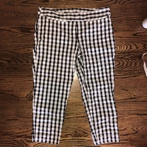 Loft Original Ankle Gingham Pants